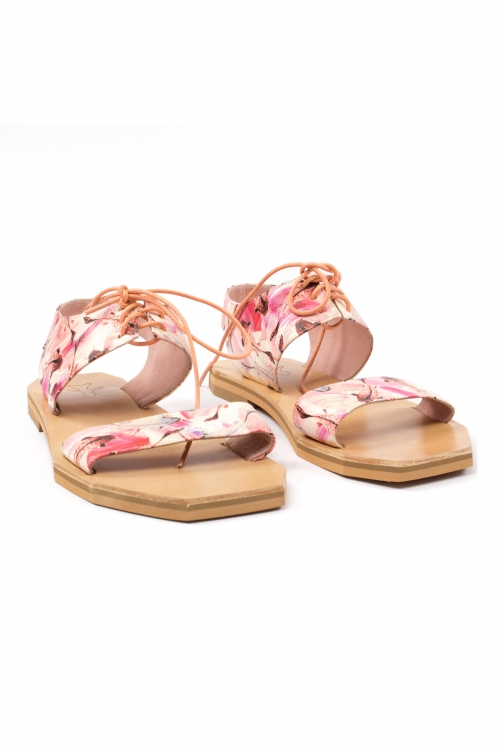 Perfect Geometry Sandals In Pink Fishies Pattern