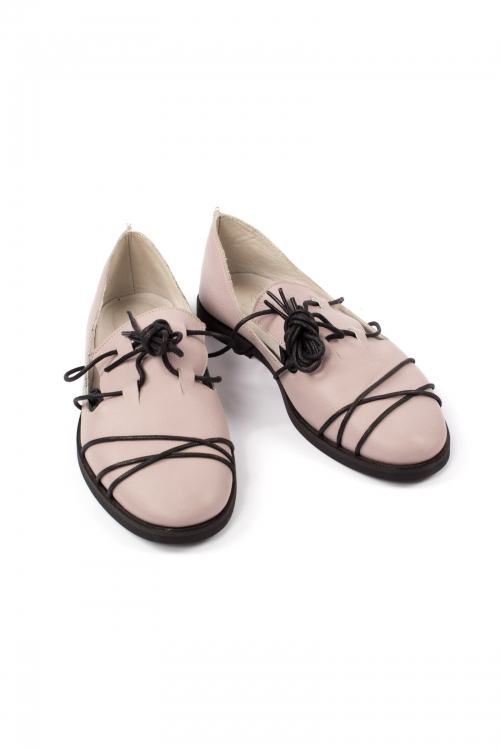 Flat Pink Moccasins for Women