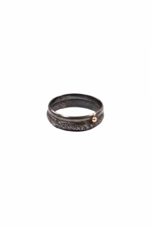 Oxidized Wedding Band Ring