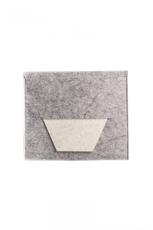 Geometric Grey Clutch