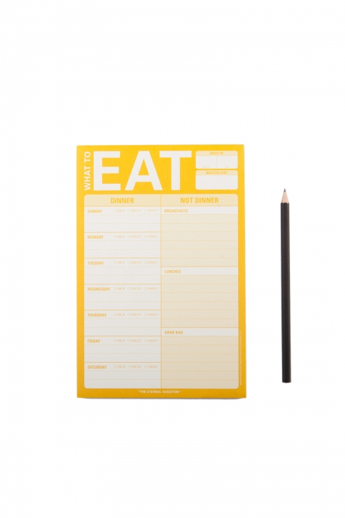 What To Eat (Yellow) Pad