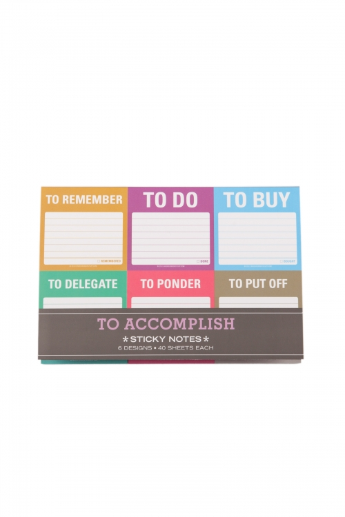 To Accomplish Packet Sticky Notes