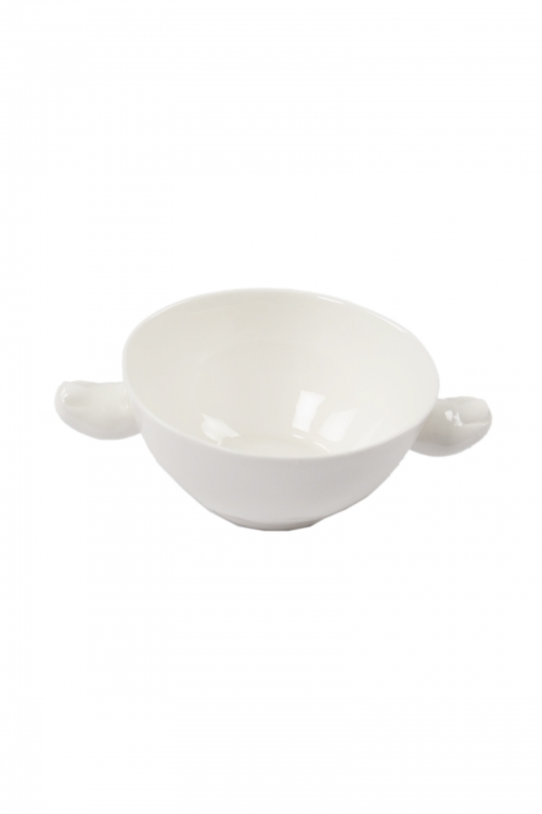 White Ceramic Bowl with Toes