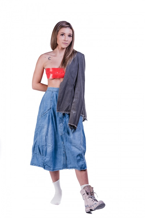 Denim Comfy Skirt