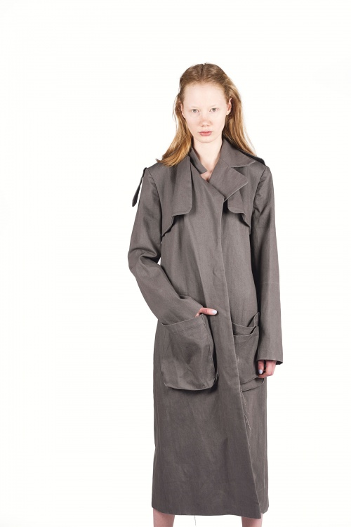 One Shade of Grey Denim Coat