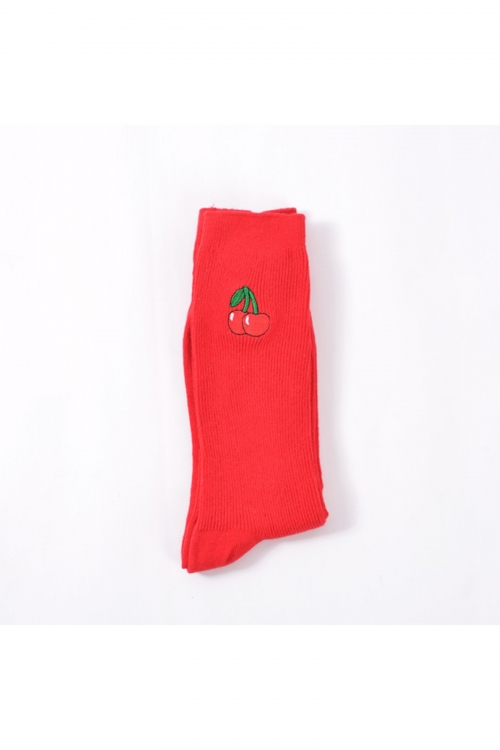 Cherries Keep Up Socks