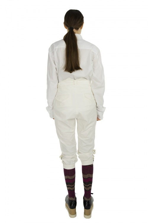 All White Style For Eccentric Women Pants